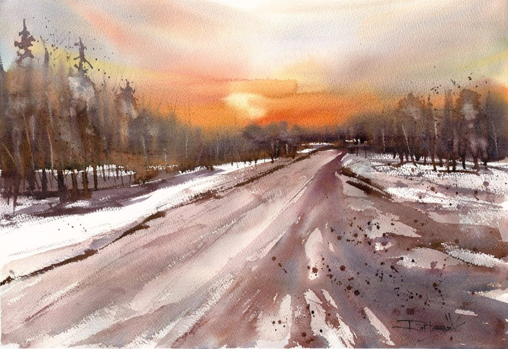 Ruth Forman - Sunset on Adam's Drive