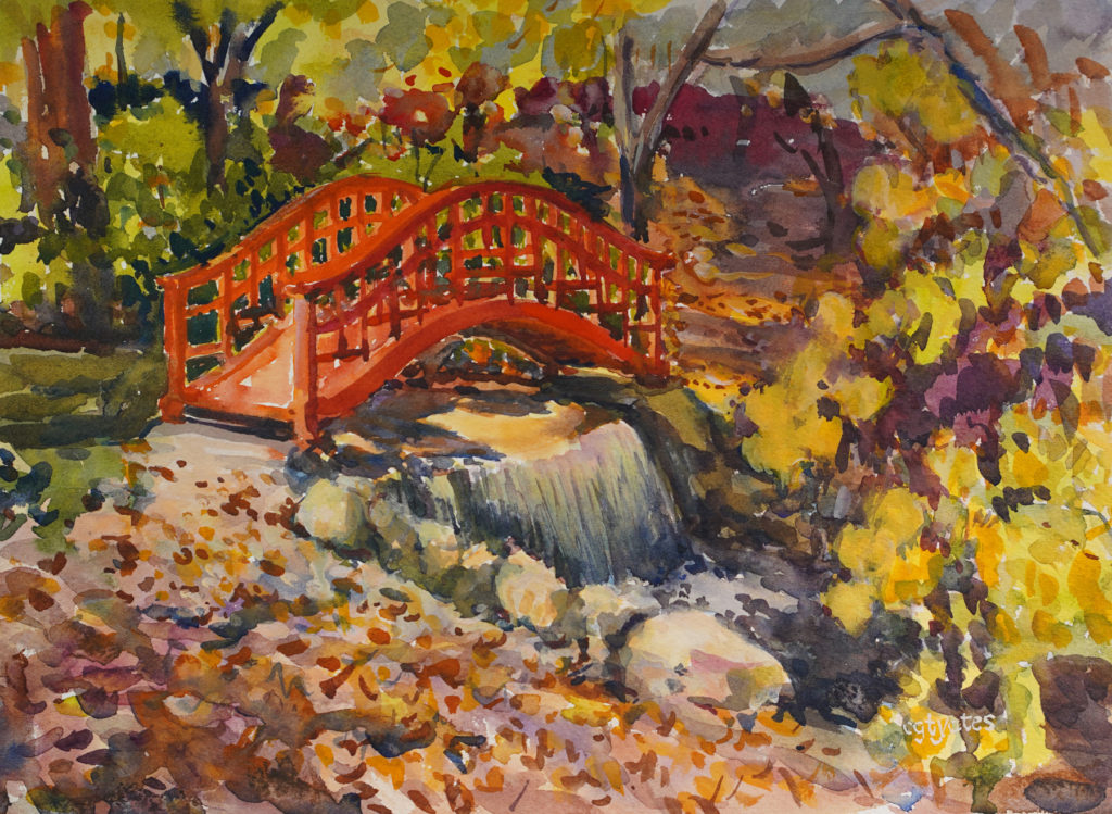 Cynthia Yates - Red Bridge Plein Air